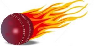 Flaming cricket ball