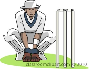 Wicket keeper (royalty-free clipart)