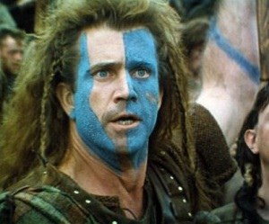 Mel Gibson as William Wallace in Braveheart: a true patriot?
