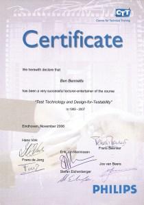 2006 Final CTT Certificate